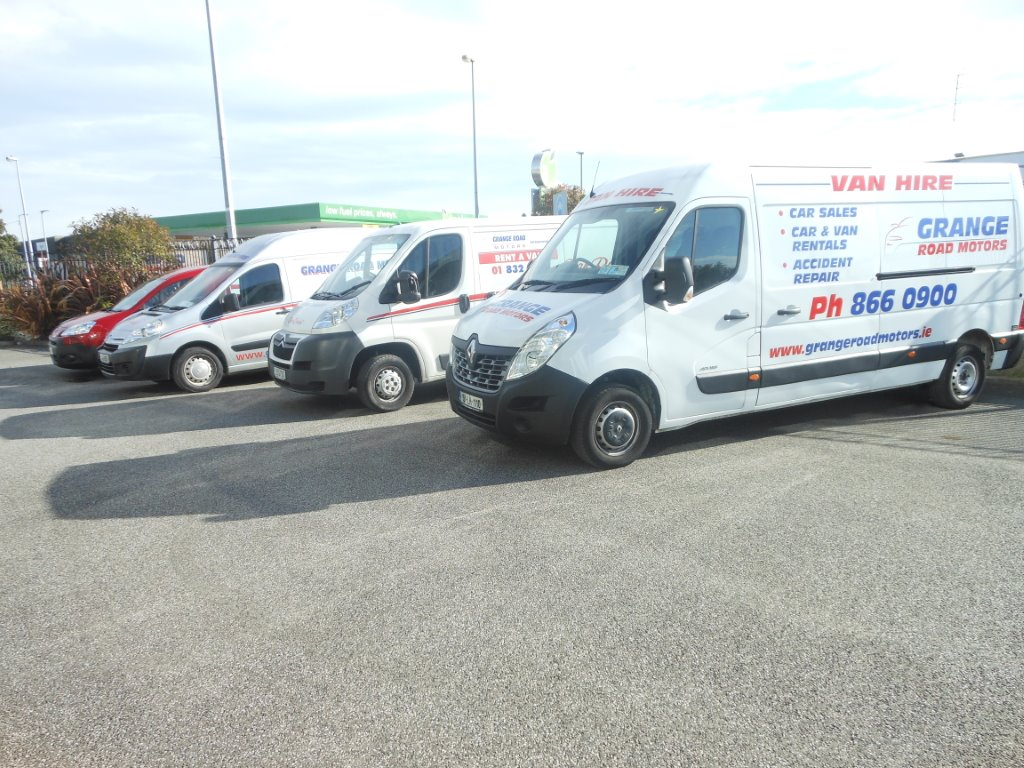car and van rental form Grange Road Motors